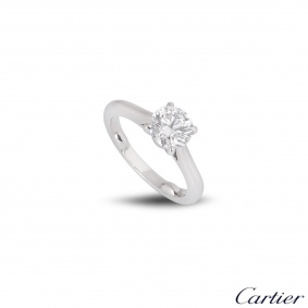 Cartier Platinum Diamond 1895 Solitaire Ring 1.16ct G/VVS1 XXX